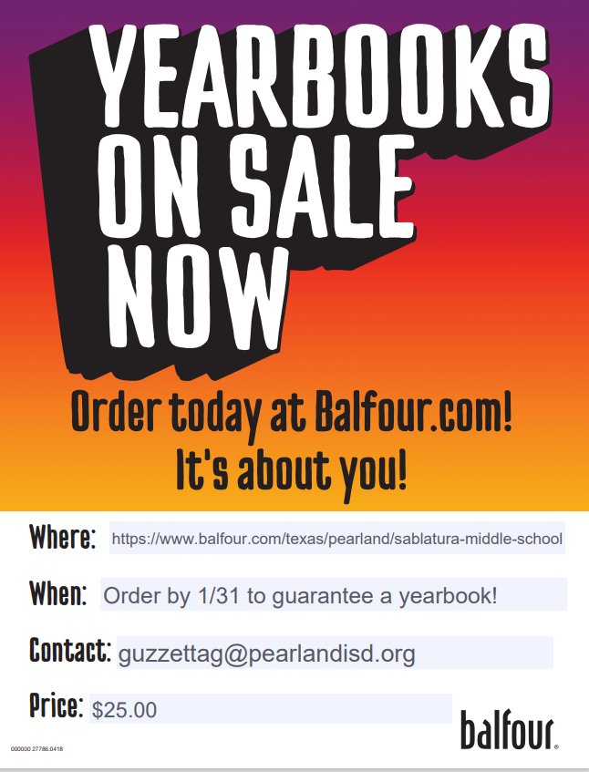 Order Your Sablatura Yearbook