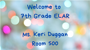 Banner for Ms. Duggan