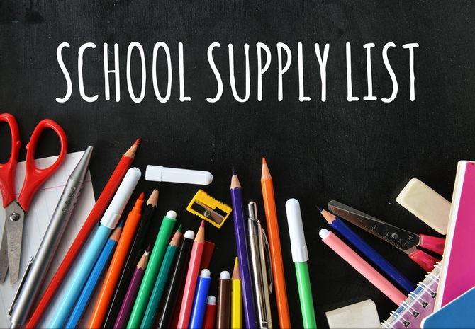 2019/2020 JH West School Supply List