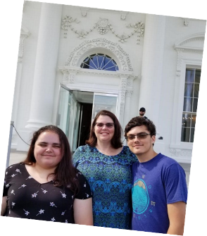 White House visit with the family.