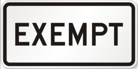 2019-2020 Exemption Policy