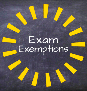 2018-2019 Final Exam Schedule and Exemption Policy
