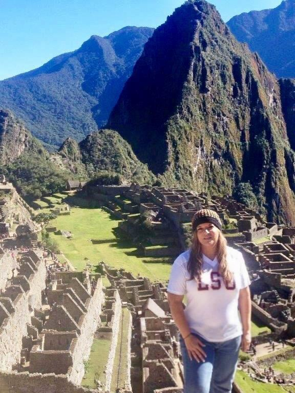 Ms Louvier at Machu Picchu