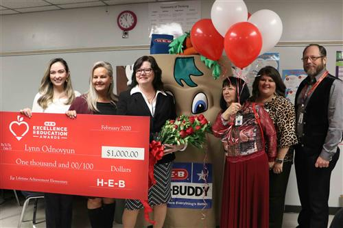 Jamison's Odnovyun named statewide finalist in H-E-B Excellence in Education Awards