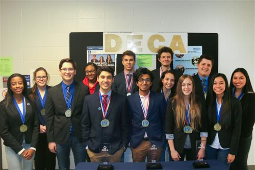 Nine students advancing to DECA international