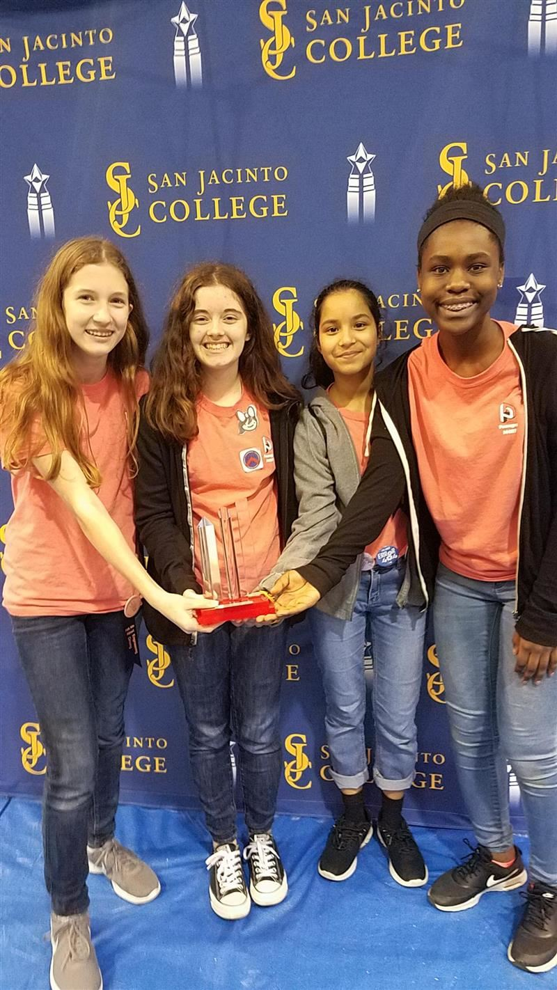 Pearland Junior High West All-Girls Robotics Team Receives Award