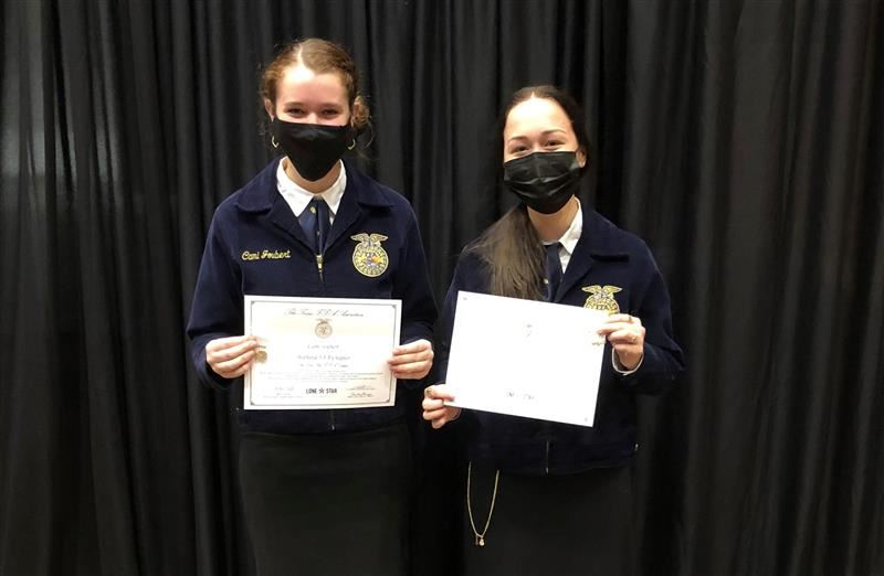 Pearland High School students recognized with the highest state FFA award