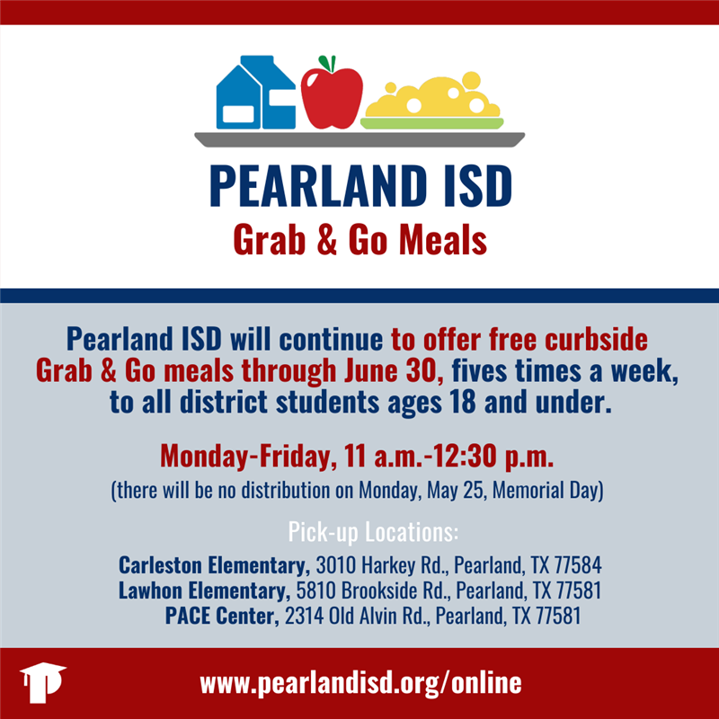Pearland ISD continues free meal distribution through June 30