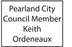 Pearland City Council Member Keith Ordeneaux