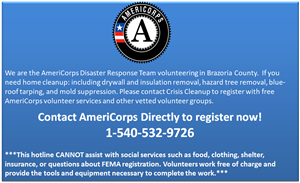 AmericCorps Disaster Reponse Team