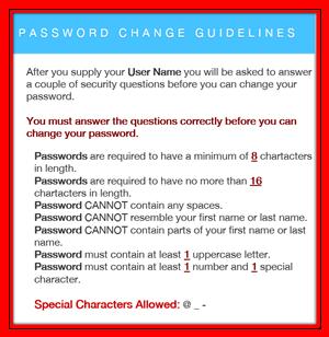 Password Change Guidelines