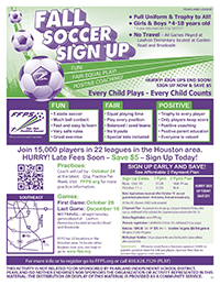 Fall Soccer Sign Up