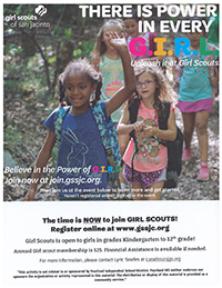 Girl Scouts of San Jacinto flyer