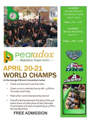 Pearadox World Championship flyer