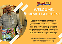 District seeking items to welcome new teachers